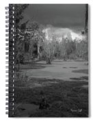 Drama In The Swamp II-black And White Spiral Notebook