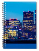 Dramatic Boston Skyline  Spiral Notebook