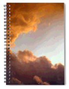 Dramatic Cloud Painting Spiral Notebook
