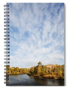 Dramatic Clouds Over Boise River In Boise Idaho Spiral Notebook