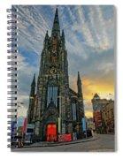 Dramatic Edinburgh Sunset At The Hub In Scotland  Spiral Notebook