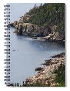 Dramatic Maine Coastline Spiral Notebook