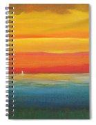 Dramatic Sky Beach Spiral Notebook