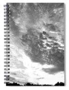 Dramatic Sky Bw Spiral Notebook