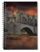 Dramatic Sky Over Castell Conwy Spiral Notebook