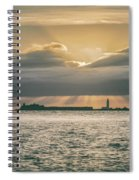 Dramatic Sky Over Hurst Castle Spiral Notebook