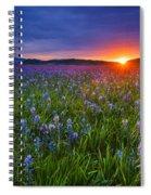 Dramatic Spring Sunrise At Camas Prairie Idaho Usa Spiral Notebook
