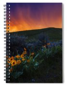 Dramatic Spring Sunset In Boise Idaho Usa Spiral Notebook