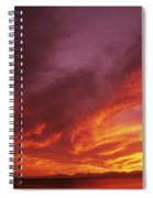 Dramatic Sunset Spiral Notebook