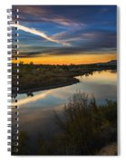 Dramatic Sunset Over Boise River Boise Idaho Spiral Notebook