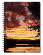 Dramatic Sunset Reflection Spiral Notebook