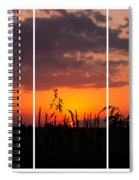 Dramatic Sunset Triptych Spiral Notebook