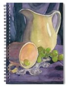 Drapes And Grapes Spiral Notebook