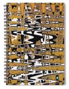 Drawing Composition Abstract Spiral Notebook