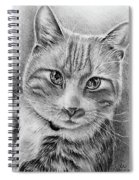 Drawing Of A Cat In Black And White Spiral Notebook