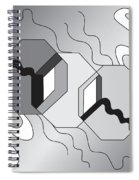 Drawn2shapes7bnw Spiral Notebook