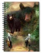 Dream Catcher - Spirit Of The Black Bear Spiral Notebook