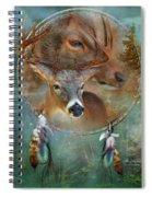 Dream Catcher - Spirit Of The Deer Spiral Notebook