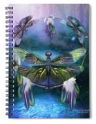 Dream Catcher - Spirit Of The Dragonfly Spiral Notebook