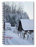 Dreaming Of A White Christmas Spiral Notebook
