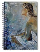 Dreaming Young Girl Spiral Notebook