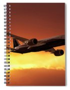 Dreamliner In The Sun Spiral Notebook
