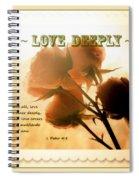 Dreams In Roses - Vintage - Verse Spiral Notebook
