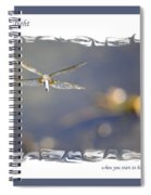Dreams Take Flight Poster Or Card Spiral Notebook