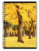 Dreamy Autumn Gold Spiral Notebook