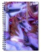 Dreamy Carrousel  Horses Spiral Notebook