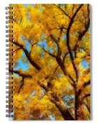 Dreamy Crisp Autumn Day Spiral Notebook