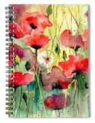Dreamy Hot Summer Fields Spiral Notebook