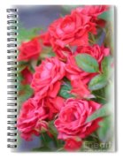 Dreamy Red Roses - Digital Art Spiral Notebook