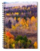 Dreamy Rocky Mountain Autumn View Spiral Notebook