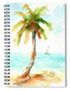 Dreamy Tropical Beach Palm Spiral Notebook
