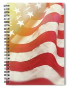 Dreamy Usa Flag 1 Spiral Notebook