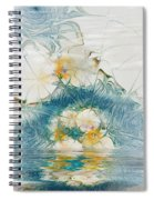 Dreamy World In Blue Spiral Notebook