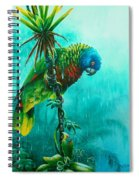 Drenched - St. Lucia Parrot Spiral Notebook