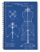 Dress Form Patent 1891 Blueprint Spiral Notebook