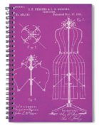 Dress Form Patent 1891 Pink Spiral Notebook