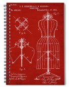 Dress Form Patent 1891 Red Spiral Notebook