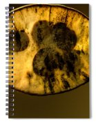 Dried Out Leaf With Seeds Spiral Notebook