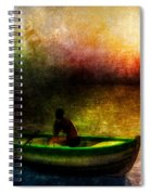 Drifting Into The Light Spiral Notebook