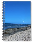 Drifting On The Beach In Dominican Republic  Spiral Notebook
