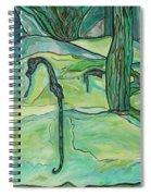 Drifting Seahorse Spiral Notebook