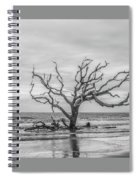 Still Standing In Black And White Spiral Notebook
