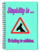 Drinking Bigstock Donkey 171252860 Spiral Notebook