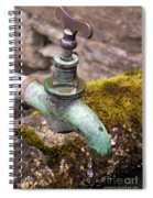 Dripping Tap On A Stone Trough Spiral Notebook