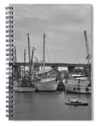 Drive By Tybee Island Shrimp Boat Art Spiral Notebook