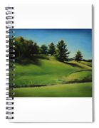 Driving By A Michigan Meadow Spiral Notebook